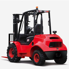 Compact Rough Terrain Forklift Small Turning Radius High Grade Ability