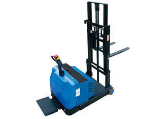 1000Kg Load Capacity Electric Pallet Stacker , Pedestrian Pallet Stacker With Emergency Stop Switch
