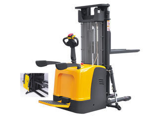 Good Quality Port Forklifts & High Load Capacity Full Electric Pallet Stacker With Mast Stable Operation on sale