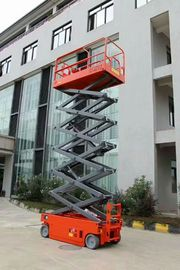 Electric Hydraulic Self Propelled Scissor Lift , Mobile Scissor Lift 12m Lift Height