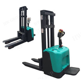 1.5 / 2 Ton 5M Electric Stacker Truck Wide Ligs Handle Heavy Loads Forklift