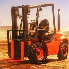 RTD 35 3.5Ton 4WD Off Road Rough Terrain Forklift Lifting Height 3000mm