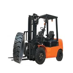 Black Color Forklift Spare Parts 787mm Overall Diameter Good Running Stability