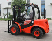 China Red Steel 2 Wheel Drive Forklift , Compact All Terrain Forklift 2.5 Ton factory