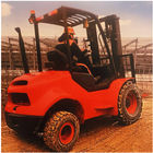 FD18 Mini All Rough Terrain Forklift Diesel Engine 1800Kg 1070mm Fork Length