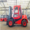 China 4 x 4Wd Small All Rough Terrain Forklift 1800Kg Hydraulic Truck Customized Color factory