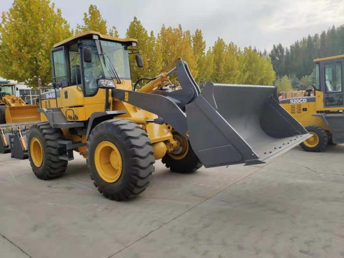 Steel Yellow Compact Wheel Loader , Articulated Backhoe
