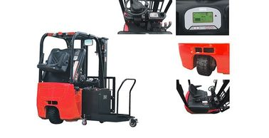 China Three Wheel Electric Forklift Truck Customised Color 4011mm Max Lift Height factory