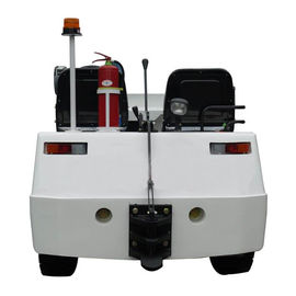 China 40 / 80 Ton White Color Steel Electric Aircraft Tow Tractor With Clean Power factory