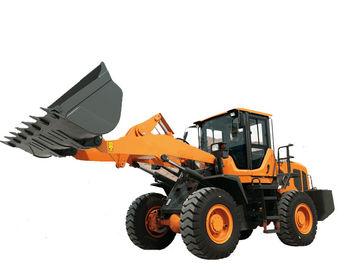 Steel Yellow Compact Wheel Loader , Articulated Backhoe Loader High performance