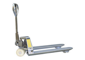 Stainless Steel Hand Manual Pallet Truck 2500kg Comfortable Handle For Warehouse