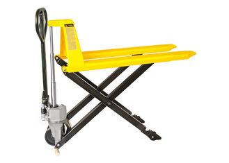 Small Size Scissor Pallet Truck , High Lift Pallet Truck With Lifting Height 800mm
