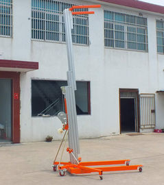 Blue Color Manual Pallet Stacker , Manual Forklift Stacker Telescoping Lift High Strength