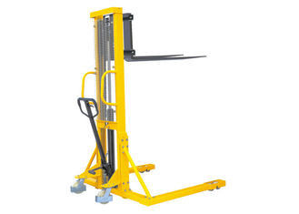 Adjustable Manual Hydraulic Pallet Stacker , Straddle Stacker Forklift High Efficiency