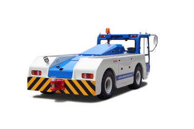 China 100 / 150 Ton Battery Operated Platform Truck , Blue Color Steel Electric Aircraft Tow Tractor For Airport factory