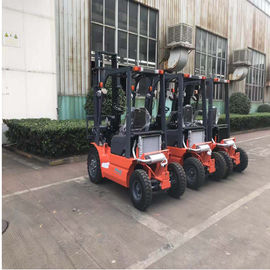 China Pneumatic Tires Diesel Forklift Truck 3000mm Lift Height Automatic Transmission factory