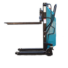1000kgs Half Semi Electric Pallet Stacker With Lift Height 1600mm High Efficiency