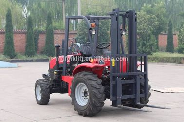 Rough All Terrain Stacker Forklift 1.5Ton 4wd With Hydraulic Motor